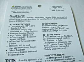 Soundtraxx 885823 Tsunami 2 TSU-PNEM8 Sound Decoder EMD-2 Diesel, 8 Function image 4