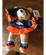 "Vintage 12"" Denver Broncos Teddy Bear Plush Good Stuff 1998 NFLP Collect... - $14.95"