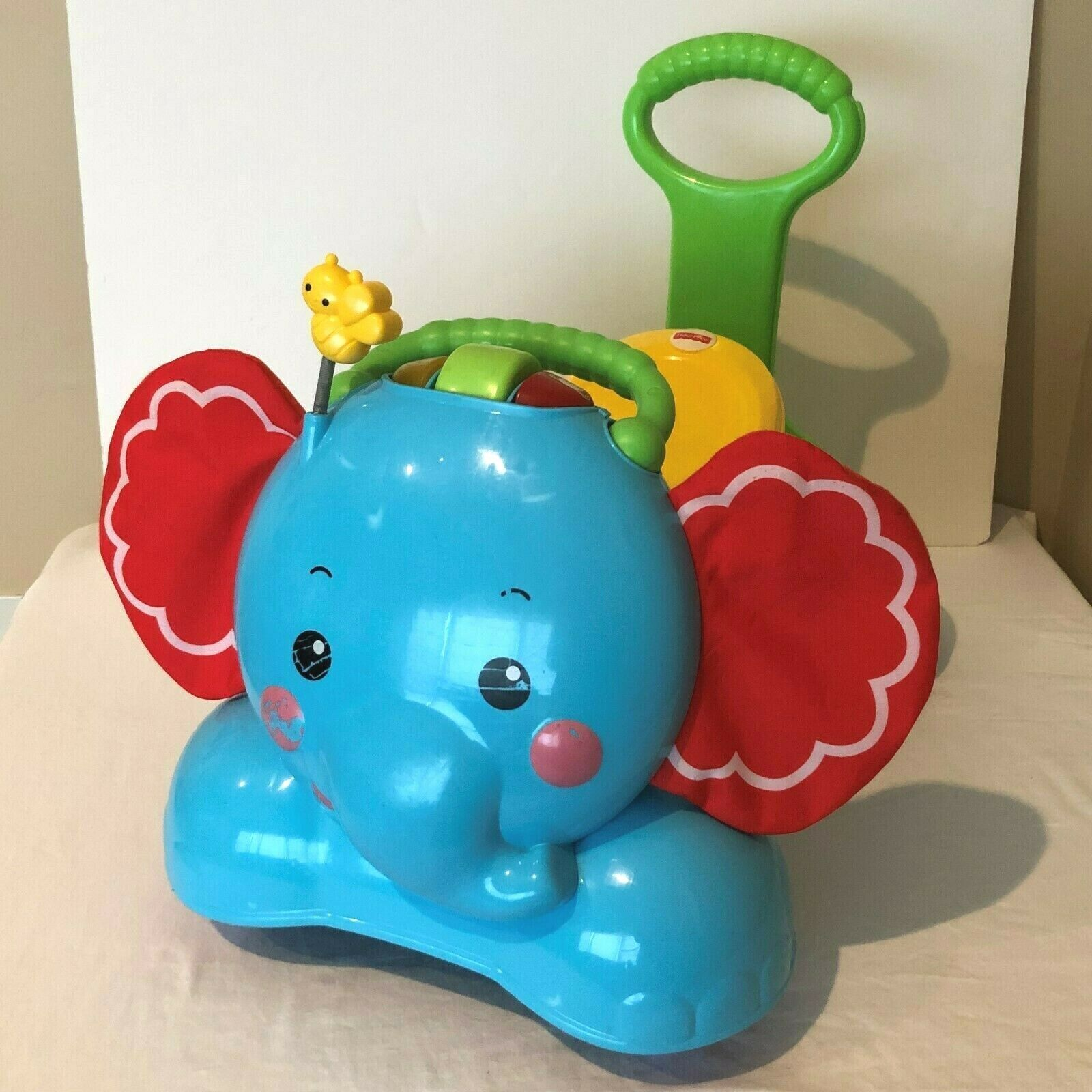 Primary image for Fisher Price Elephant Ride On Walker Stride To Ride Bounce Toy Lights and Sound