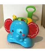 Fisher Price Elephant Ride On Walker Stride To Ride Bounce Toy Lights an... - $44.99