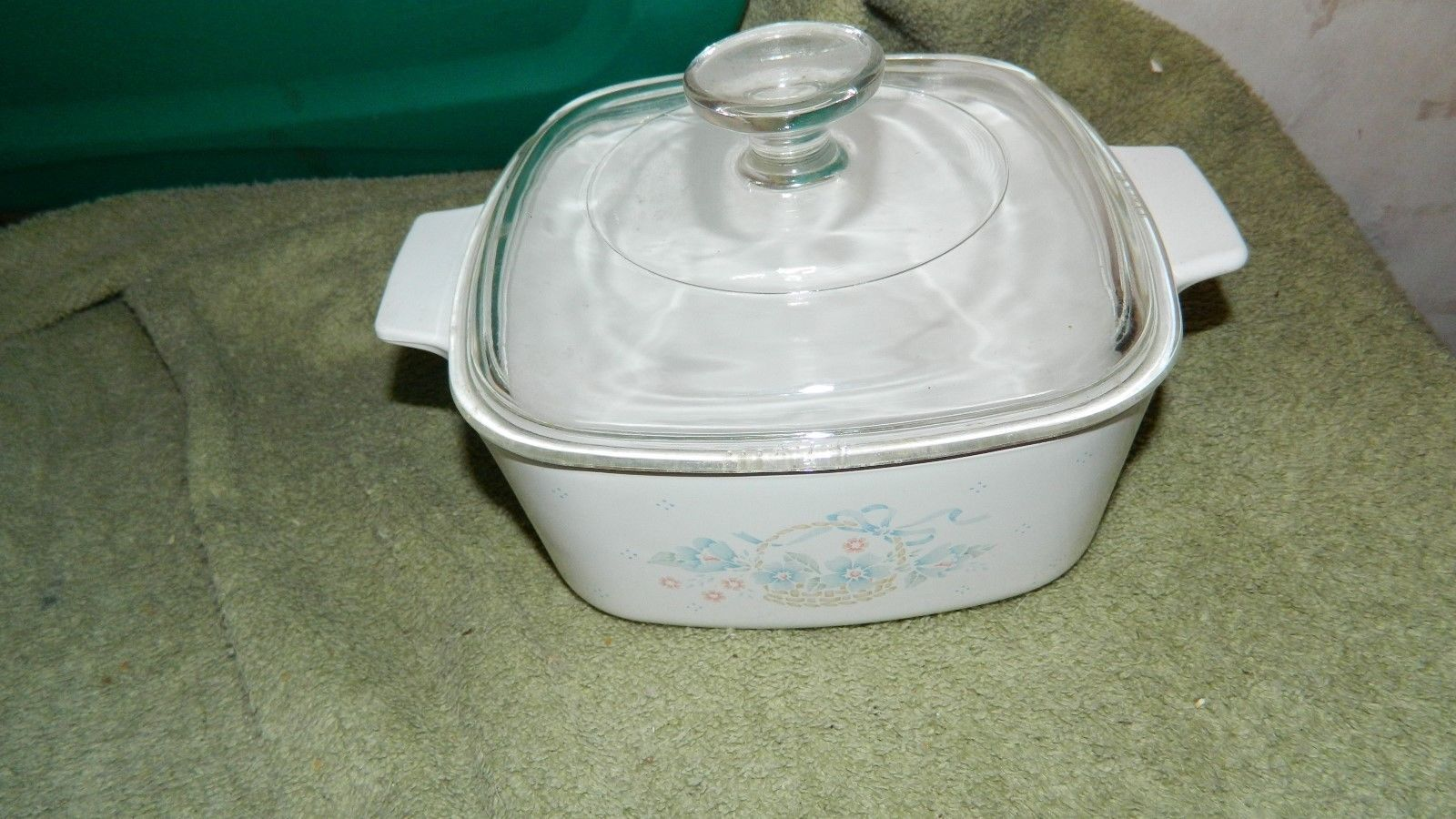 Primary image for CORNING WARE COUNTRY CORNFLOWER A-1&1/2-B CASSEROLE + PYREX A-7-C LID FREE SHIP