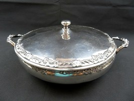 Art Deco Silver Plate Reed & Barton 620 serving bowl covered footed dish... - $160.00