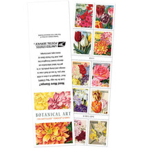 USPS Stamps forever Botanical Art booklet of 10 - $6.79