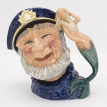 Old Salt Toby Mug Jug w Mermaid Royal Doulton D6551 England Vintage 1960... - $45.00
