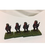 lot of 4 painted vintage 25mm knights with sword and shield by TTG - $4.95