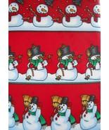 Yule Tie Greetings Hallmark Snowmen Tie Novelty Mens Necktie Snowman - $3.50