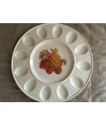 Egg Platter Food Platter Treasure Craft Eat Dish Christmas Thanksgiving ... - $45.00