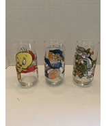 VTG (3) 1979 Pepsi Collectors Glass Looney Tunes Tweety Road Runner Bugs  - $19.95