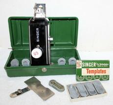 Singer Buttonholer Attachment + Template Set w/ Case ~ 4 Featherweight ? - $41.99