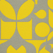 Maharam Upholstery Fabric Mister Enliven Geometric Yellow 1.375 yd 46617... - $41.80