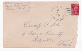 IRBY, WASH MAILED TO RITZEVILLE, WASH. SEPTEMBER 27 1905 - $2.68