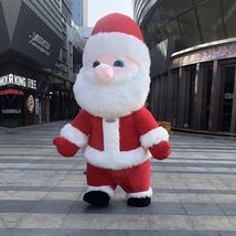 Christmas Inflatable Santa Claus Mascot Costume Saint Nick Suits Cosplay Plush P image 2