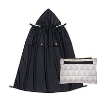 Naforye All-Seasons Rain Cover with Detachable Zippered Pouch (Black Knight)