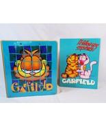 Mead Garfield 3 Ring Binder & 2 Pocket Portfolio Folder 2 Piece Vintage ... - $24.74