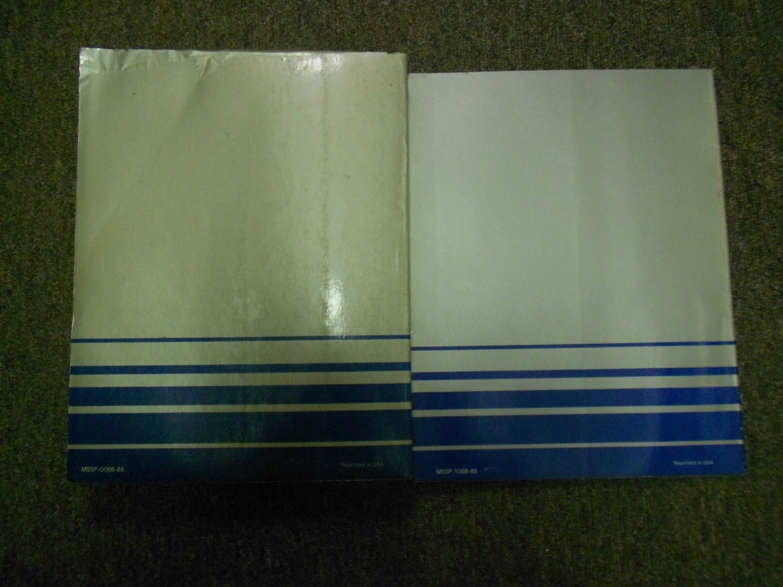 1985 MITSUBISHI Mirage Service Repair Shop Manual 2 VOL SET OEM BOOK 85 FACTORY