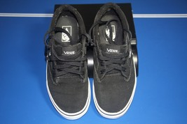 VANS OFF THE WALL Black sneakers size youth 5 TB4R canvas low top - $26.17
