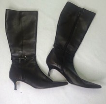 "Ann Taylor Women's Knee High Brown Genuine Leather High 2.5"" Heel Boots ... - $39.27"