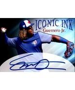 5 Vladimir Guerrero Jr. Iconic Ink Fascimile Autograph cards Toronto Blu... - $5.94