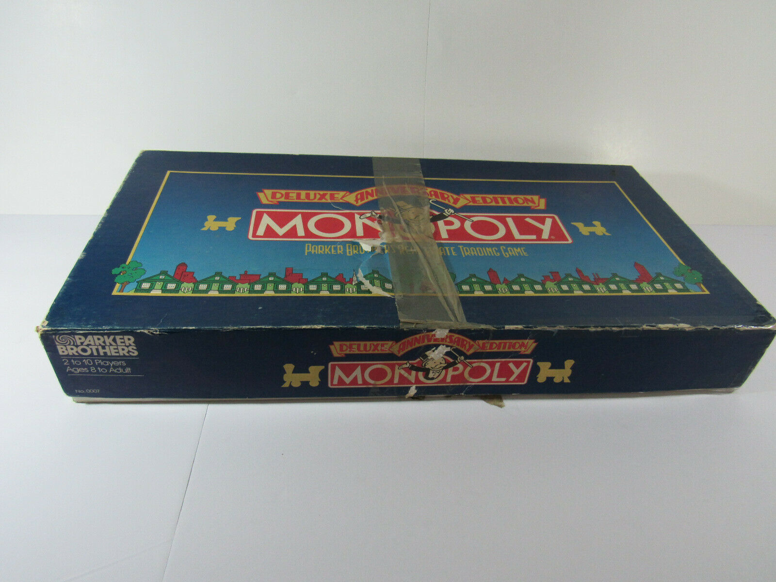 Primary image for Monopoly Deluxe Anniversary Edition Game Complete Gold Tokens incomplete 1985