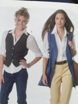 McCalls Sewing Pattern 2260 Misses Unlined Vests Two Lengths Size S 8-10... - $15.28