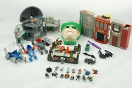 Vtg Batman Wayne Manor Riddler Mr. Freeze Mini Micro Playsets & Figurine... - $33.38