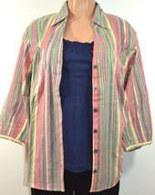 DressBarn Women's Plus Size Striped Shirt 2 PCS-SET With TANK TOP  - $16.99