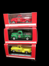 Coca-Cola Set of 3 1:43 Model Trucks-1948 Ford 1955 Chevy Stepside 1953 Chevy - $84.15