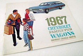 Chevy 1967 Chevrolet Car Sales Brochure Caprice Wagon Chevelle Dealershi... - $24.74