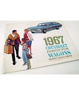 Chevy 1967 Chevrolet Car Sales Brochure Caprice Wagon Chevelle Dealershi... - $24.74
