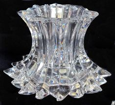PartyLite P7378 Aurora Pillar Candle Holder RETIRED 24% Lead Clear Cryst... - $45.99