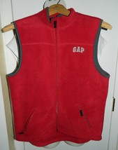 GAP KIDS XXL Red  with Gray Trim Fleece Vest  - $19.79