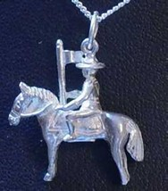 COOL Mounty Police pendant charm Horse Sterling silver 925 Jewelry - $25.99