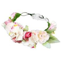 Women Girls Flower Festival Wreath - $30.60