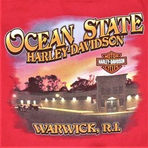 HARLEY-DAVIDSON Men's T Shirt ~ 3XL ~ Red ~ Warwick Ri / Rhode Island Very Good - $19.31