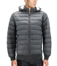 Men's Sherpa Lined Lightweight Hooded Zipper Insulated Quilted Puffer Jacket image 6