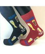 2 PAIRS Foozys Men's Socks BEER Draft Pint Pilsner, New Ships Free - $8.99