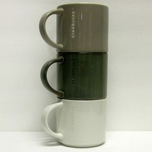 STARBUCKS COFFEE COMPANY LOT (3) 14 oz 2013 ETCHED STACKABLE COFFEE CUPS - $42.59