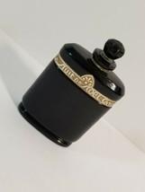 Rare Art Deco CARON La Nuit De Noel BACCARAT Black Crystal Perfume Bott... - $39.08