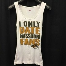 I only date Missouri fans white tank top Size Large - $14.99