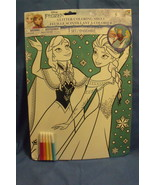 Toys New Disney Frozen Glitter Coloring Sheet Elsa and Anna 5 markers - $4.95