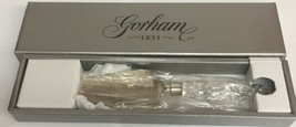 Gorham 1831 Lady Anne Cake server Full lead Crystal Made in Austria - $37.39