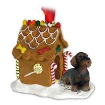 Wire Haired Dachshund Red Ginger Bread House Ornament - $17.99