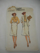 Vintage Vogue skirt Jacket cut sewing pattern 7048 Sz 14  - $12.86