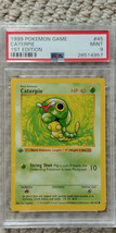 Pokemon Caterpie 45/102 1st Edition Base Set PSA 9 MINT 1999 TCG Game Sh... - $59.99