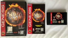NBA Jam T.E. Tournament Edition (Sega Genesis 1995) COMPLETE in Box Game... - $13.99