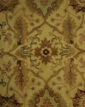 Agra Wool Handmade Rug 10 x 14 Oriental Ivory Rug image 10