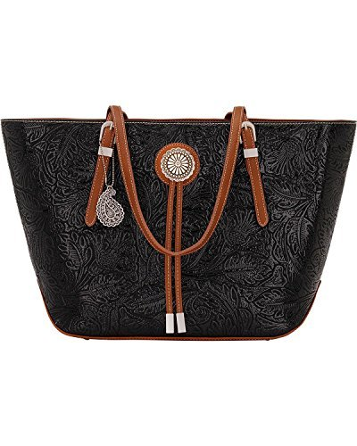 Primary image for Bandana Women's By American West Dallas Zip Top Tote Black One Size