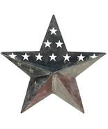 Antiqued Metal Patriotic Flag Star Wall Pocket - $38.00