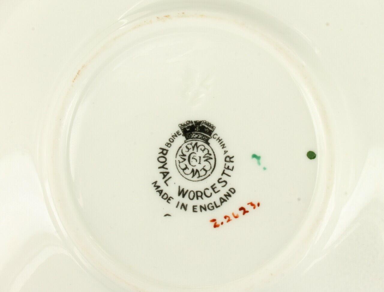 Vintage Royal Worcester Gooseberry Grapes Fall Stunning Demitasse Cup Saucer
