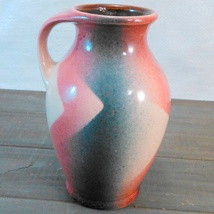 """Bay Keramik Hand-Painted Vase Made In West Germany C.1950'S-60'S abt 5 3/4"""" tall image 5"""